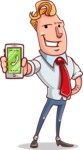 Vector Businessman Cartoon Character Design - iPhone