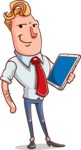 Vector Businessman Cartoon Character Design - iPad3
