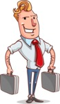 Vector Businessman Cartoon Character Design - Brifcase 3