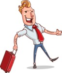 Vector Businessman Cartoon Character Design - Travel 1