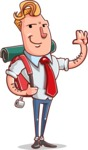 Vector Businessman Cartoon Character Design - Travel 2