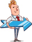 Vector Businessman Cartoon Character Design - Pointer 2