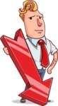 Vector Businessman Cartoon Character Design - Pointer 3