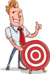 Vector Businessman Cartoon Character Design - Target