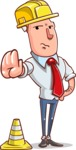 Vector Businessman Cartoon Character Design - Under Construction 1