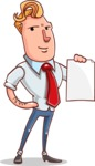 Vector Businessman Cartoon Character Design - Sign 2