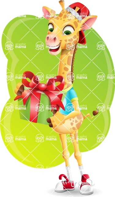 Funny Giraffe Cartoon Vector Character - Shape 5