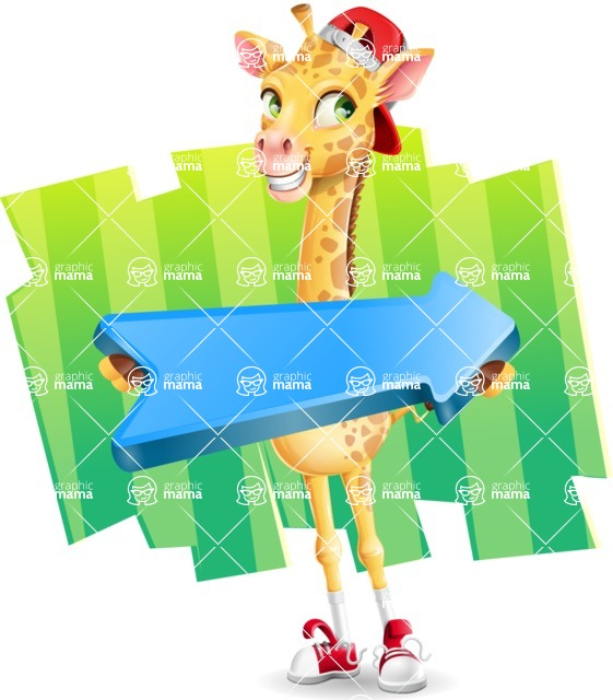 Funny Giraffe Cartoon Vector Character - Shape 8