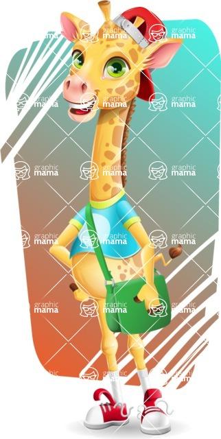 Funny Giraffe Cartoon Vector Character - Shape 11