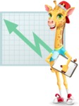 Funny Giraffe Cartoon Vector Character - Shape 6