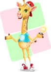 Funny Giraffe Cartoon Vector Character - Shape 12