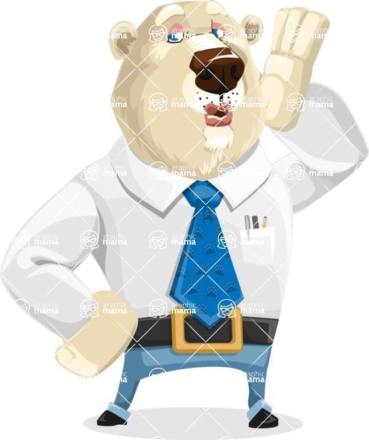 Polar Bear Cartoon Character - Duckface