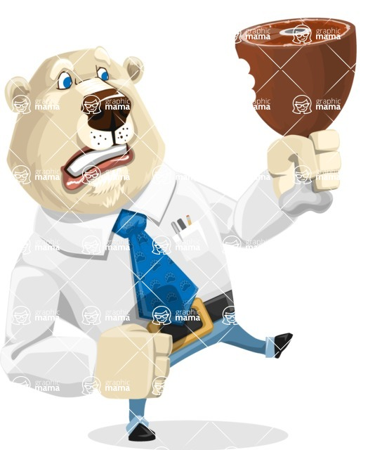 Polar Bear Cartoon Character - Meat