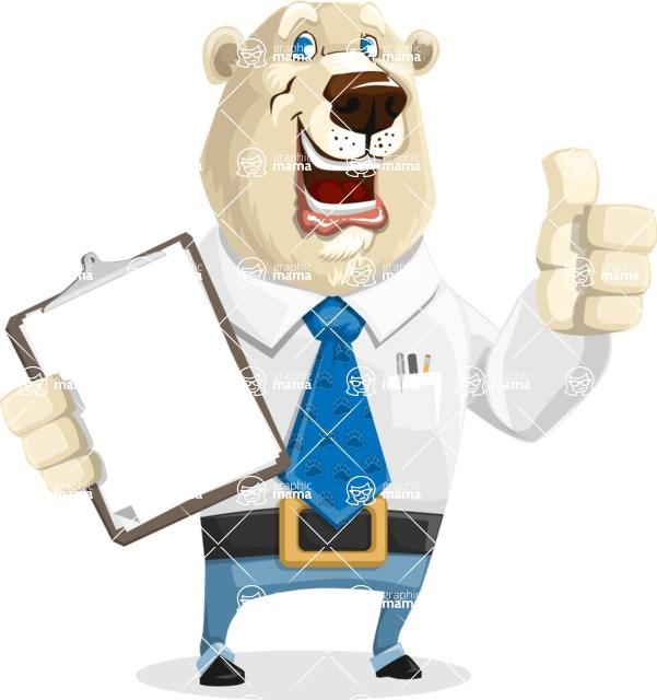 Polar Bear Cartoon Character - Notepad 1