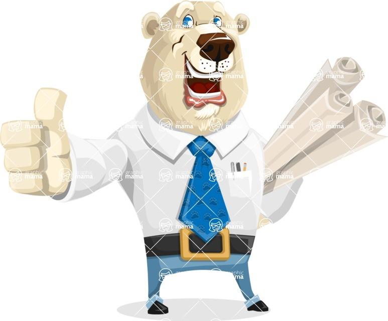 Polar Bear Cartoon Character - Plans
