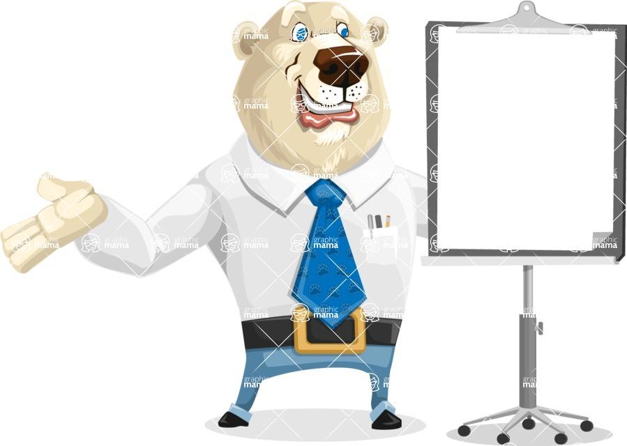Polar Bear Cartoon Character - Presentation 1