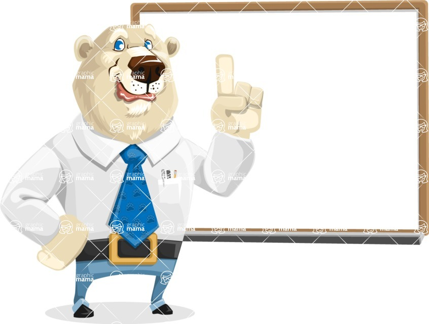 Polar Bear Cartoon Character - Presentation 3