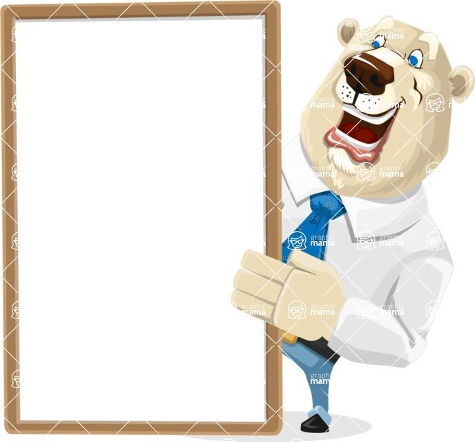 Polar Bear Cartoon Character - Presentation 4