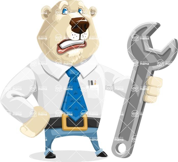 Polar Bear Cartoon Character - Repair