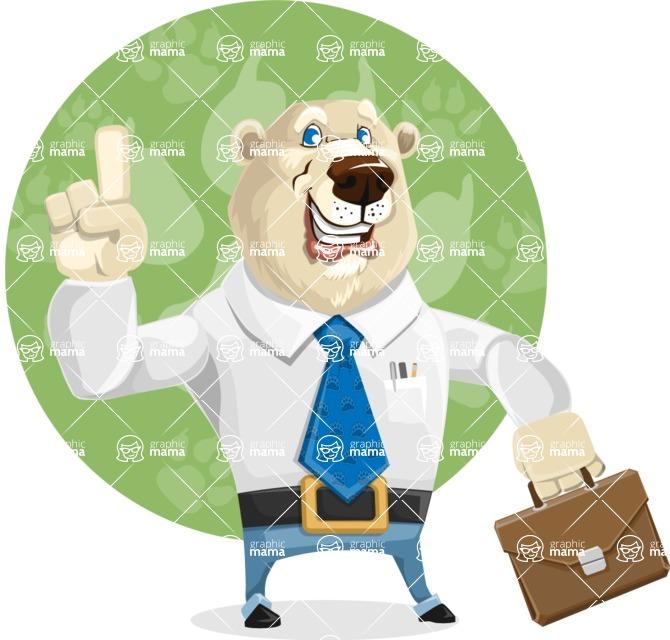Polar Bear Cartoon Character - Shape 11