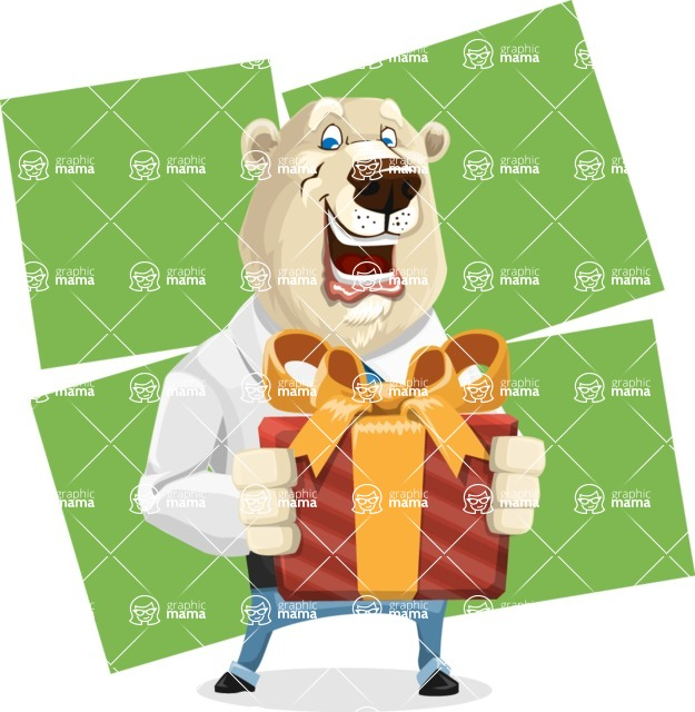 Polar Bear Cartoon Character - Shape 8