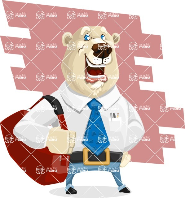 Polar Bear Cartoon Character - Shape 9