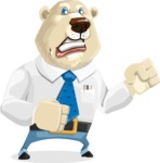 Polar Bear Cartoon Character - Angry