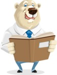 Polar Bear Cartoon Character - Book 1