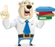 Polar Bear Cartoon Character - Book 2