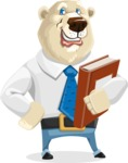 Polar Bear Cartoon Character - Book 3