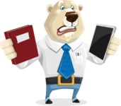 Polar Bear Cartoon Character - Book and iPad