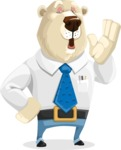 Polar Bear Cartoon Character - Bored 2