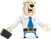 Polar Bear Cartoon Character - Briefcase 1