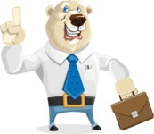 Polar Bear Cartoon Character - Briefcase 2