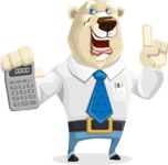 Polar Bear Cartoon Character - Calculator