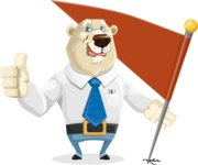 Polar Bear Cartoon Character - Checkpoint