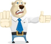 Polar Bear Cartoon Character - Direct Attention 2