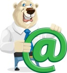 Polar Bear Cartoon Character - Email