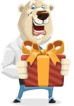 Polar Bear Cartoon Character - Gift