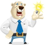 Polar Bear Cartoon Character - Idea 1