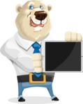 Polar Bear Cartoon Character - iPad 2