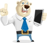 Polar Bear Cartoon Character - iPad 3