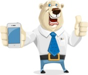 Polar Bear Cartoon Character - iPhone