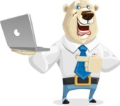 Polar Bear Cartoon Character - Laptop 1