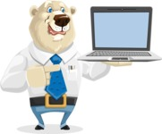 Polar Bear Cartoon Character - Laptop 3