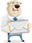 Polar Bear Cartoon Character - Letter