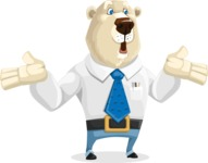 Polar Bear Cartoon Character - Lost