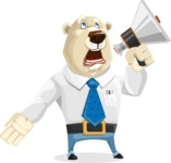 Polar Bear Cartoon Character - Loudspeaker