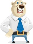 Polar Bear Cartoon Character - Normal