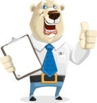 Polar Bear Cartoon Character - Notepad 1
